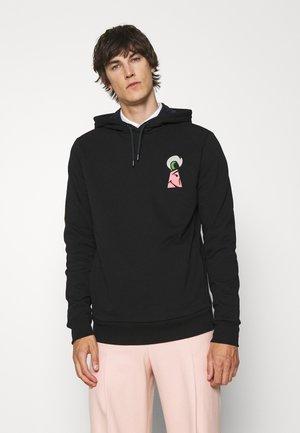 HOODY KEYHOLE - Sweatshirt - black