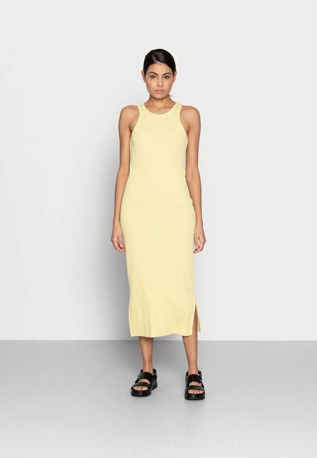 RANCHO TANK DRESS - Robe en jersey - lemon grass