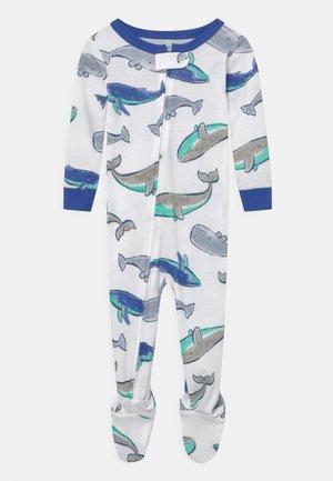 WHALE - Sleep suit - white/blue