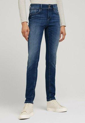 SKINNY - Slim fit jeans - random bleached  blue denim