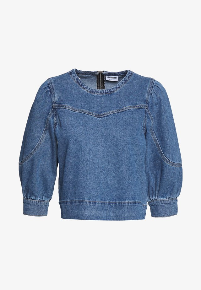 NMSIMONE  - Blouse - medium blue denim
