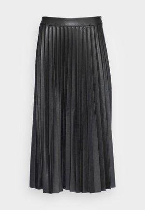 PLISSÉ SKIRT - Pleated skirt - deep black