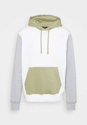 HOODIE  - Collegepaita - summit white/light smoke grey