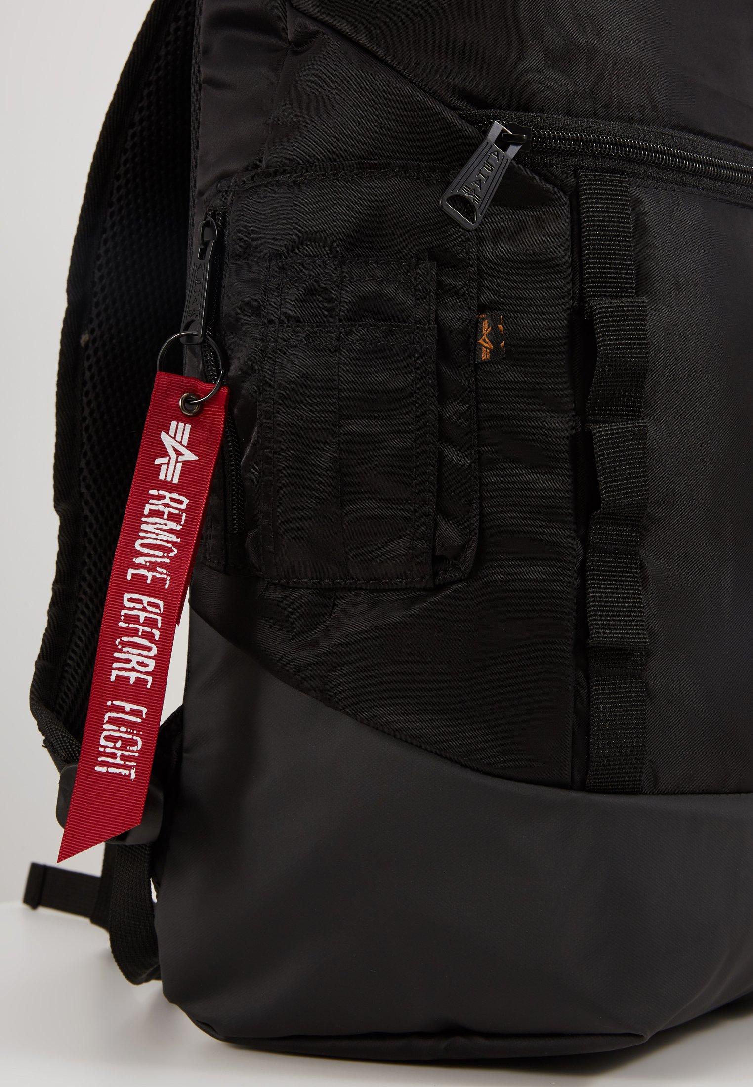 Alpha Industries CREW BACKPACK - Ryggsekk - black/svart VSjIsqoEzts2o3C