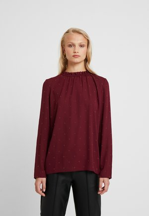 PYRAMIDES - Blouse - windsor wine/brick