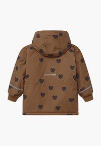 Mini Rodini - HEARTS - Winter coat - brown - 2