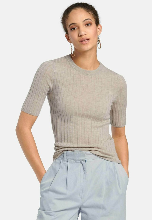 T-shirt basic - helltaupe-melange