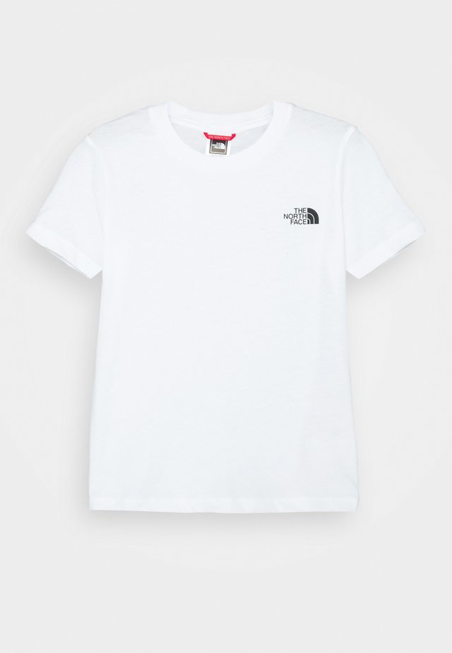 SIMPLE DOME TEE - T-shirt basique - white/black