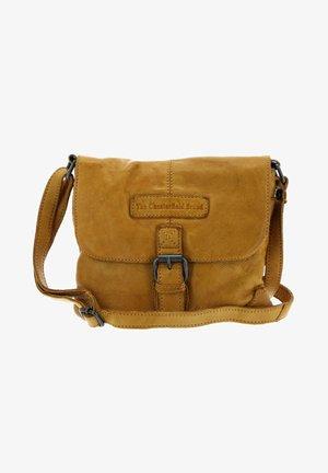 CATO FLAPOVER - Across body bag - yellow ochre