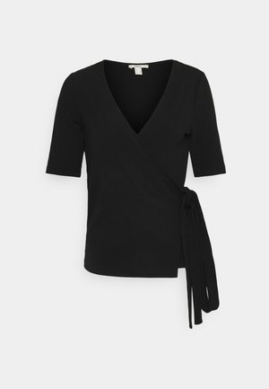 WRAP TEE - T-shirts print - black