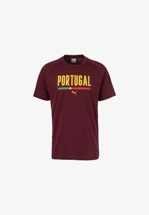 T-shirt print - cordovan