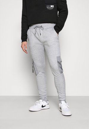 CHELSEA - Pantalon de survêtement - grey marl/jet black