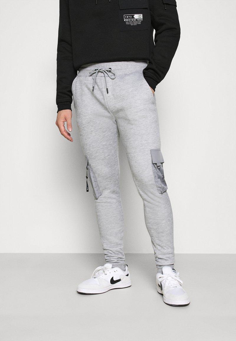 Brave Soul - CHELSEA - Pantaloni sportivi - grey marl/jet black