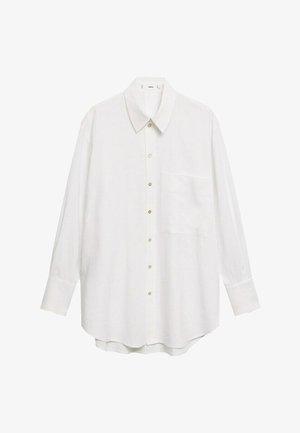 CLEAN - Button-down blouse - blanco roto