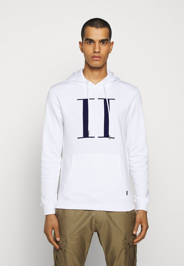 ENCORE HOODIE - Sweat à capuche - white/cobalt blue