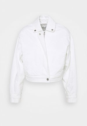 CROPPED PUFF SLEEVE - Farkkutakki - white