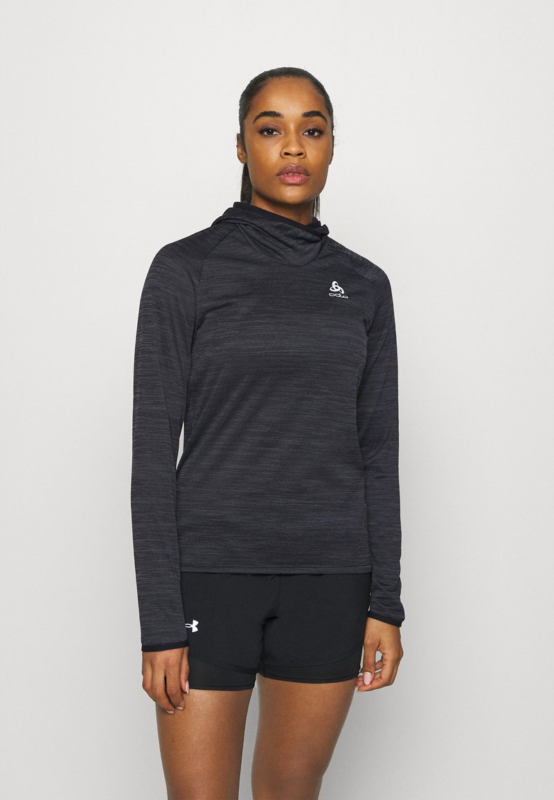 ODLO - HOODY MIDLAYER MILLENNIUM ELEMENT - Long sleeved top - black