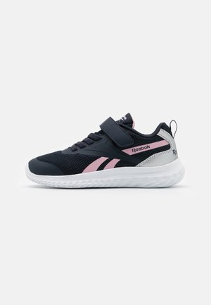 RUSH RUNNER 3.0 UNISEX - Neutral running shoes - night navy/pink/silver metallic