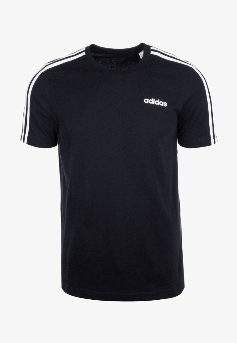 adidas Performance - ESSENTIALS SPORTS SHORT SLEEVE TEE - Triko s potiskem - black/white