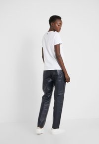 KARL LAGERFELD - CARGO PANTS - Leather trousers - peacoat - 2
