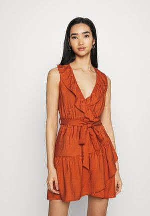 Day dress - cognac