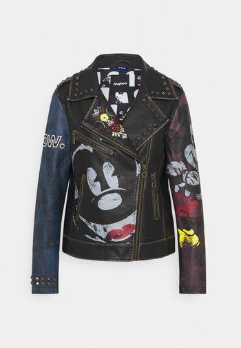 COVENT GARDEN - Faux leather jacket - black