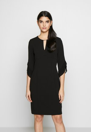 3/4 TULIP SLEEVE SHEATH - Etuikleid - black