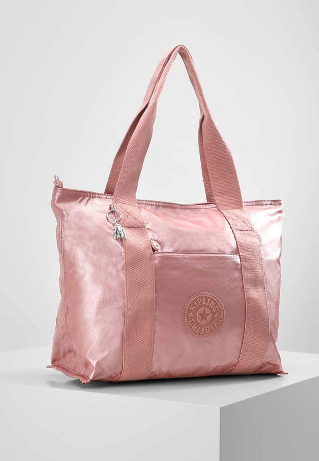 ERA M - Bolso shopping - metallic rust