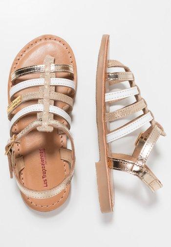 HIRSON - T-bar sandals - or/multicolor