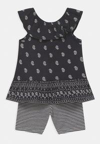 Carter's - 2-Piece Paisley Jersey Tee & Bike Short Set - Shorts - black/white - 1