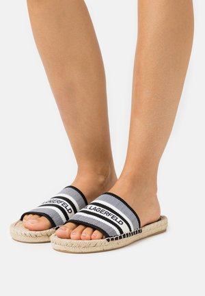KAMINI SLIDE - Mules - white/black