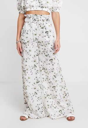 FRENCHIE PALAZZO PANT - Trousers - white bouquet