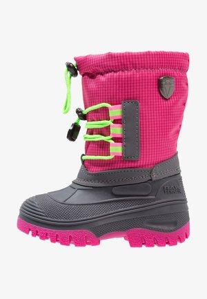 KIDS AHTO WP - Vinterstøvler - pink fluo