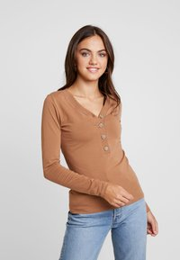 Gina Tricot - EXCLUSIVE - Langærmede T-shirts - toasted coconut - 0
