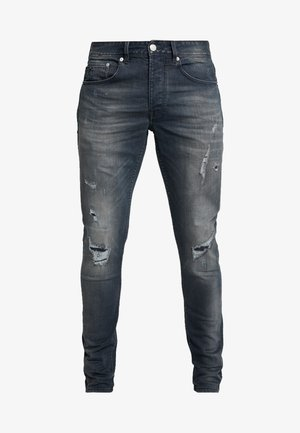 EGO AGAR - Slim fit jeans - dark blue denim