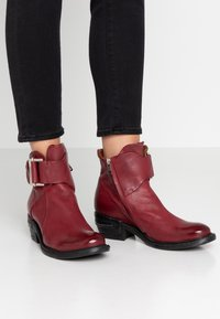 A.S.98 - Cowboy/biker ankle boot - cardinal - 0