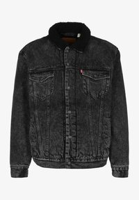 TYPE 3 SHERPA TRUCKER - Denim jacket - black