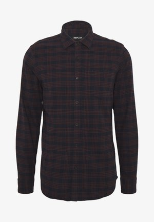 Shirt - blue/brick red