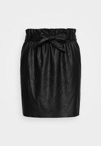 Vero Moda - VMAWARDBELT SHORT COATED SKIRT - A-line skirt - black - 3