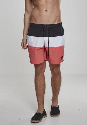 Swimming shorts - rose/black/white