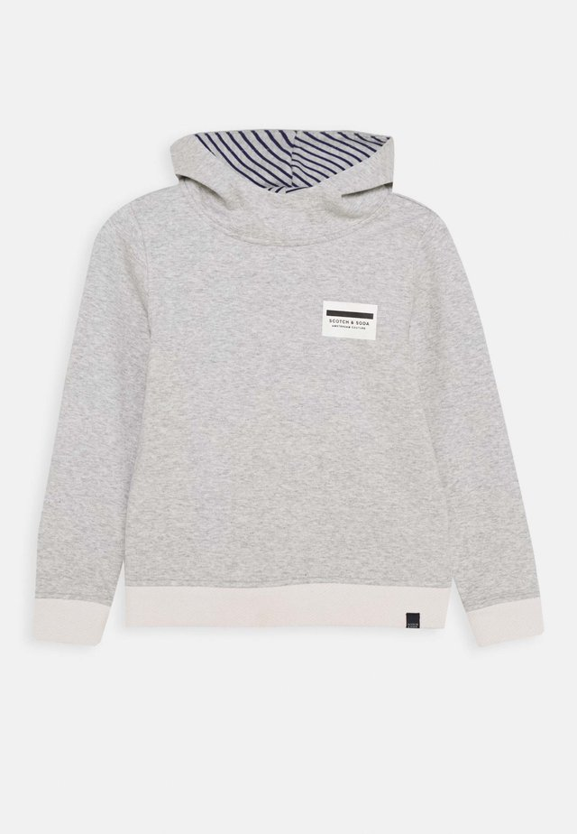 REVERSIBLE HOODED  - Sweat à capuche - grey melange