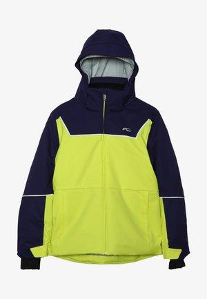 BOYS SPEED READER JACKET - Ski jacket - citrus yellow/south black