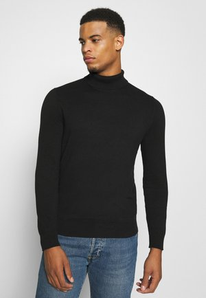 FINE GAUGE ROLL  - Pullover - black