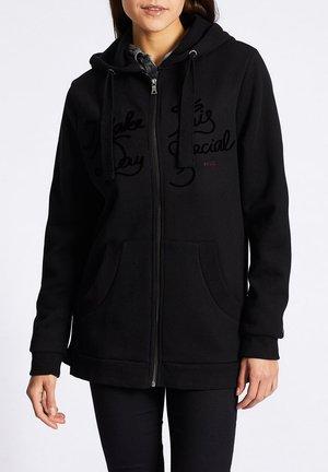 LUNGIA - Zip-up hoodie - hellgrau