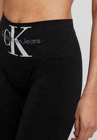 Calvin Klein Underwear - LOGO HIGH WAIST - Pyjama bottoms - black - 4