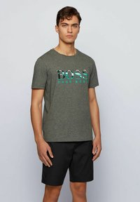 BOSS - TEE  - Print T-shirt - grey - 0