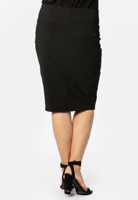 Yoek - JUPE BASIS - Pencil skirt - black - 2