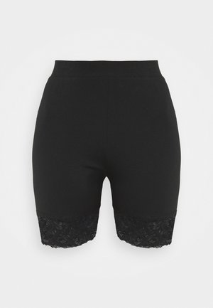 CYCLE SHORTS WITH LACE HEM - Shorts - black