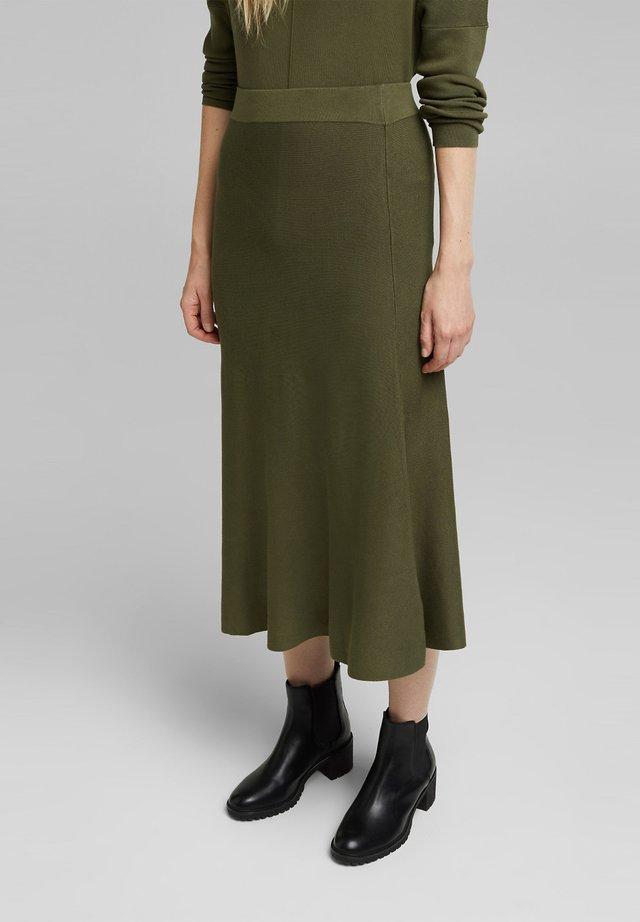 A-line skirt - khaki green