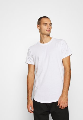 JJENOA TEE CREW NECK 5 PACK - T-shirt - bas - white/black/dark blue